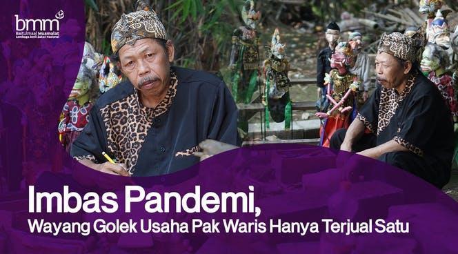 Banner program Dukung Usaha Pak Waris Dan 100 UMKM Terdampak Covid