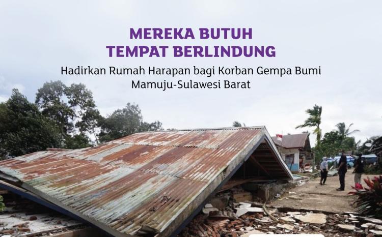 Banner program Miris, Ribuan Warga Mamuju Tinggal di Tenda Tak Layak