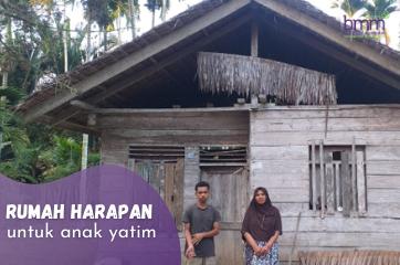 Banner program Wujudkan Rumah Harapan Untuk Anak Yatim