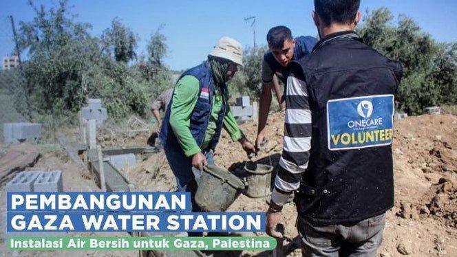 Banner program Yuk Bantu Selesaikan Stasiun Air Bersih di Gaza