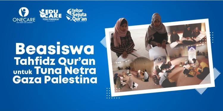 Banner program Beasiswa Tahfidz Quran Palestina
