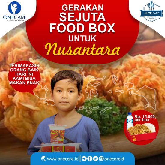 Banner program Yuk Sukseskan Gerakan Sejuta Food Box Untuk Nusantara
