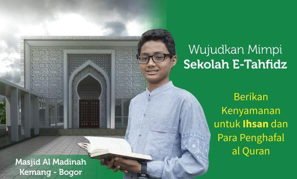 Banner program Wujudkan Mimpi Sekolah E Tahfidz