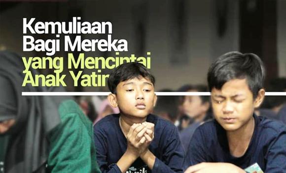 Banner program Kemuliaan Mencintai dan Menyantuni Anak Yatim