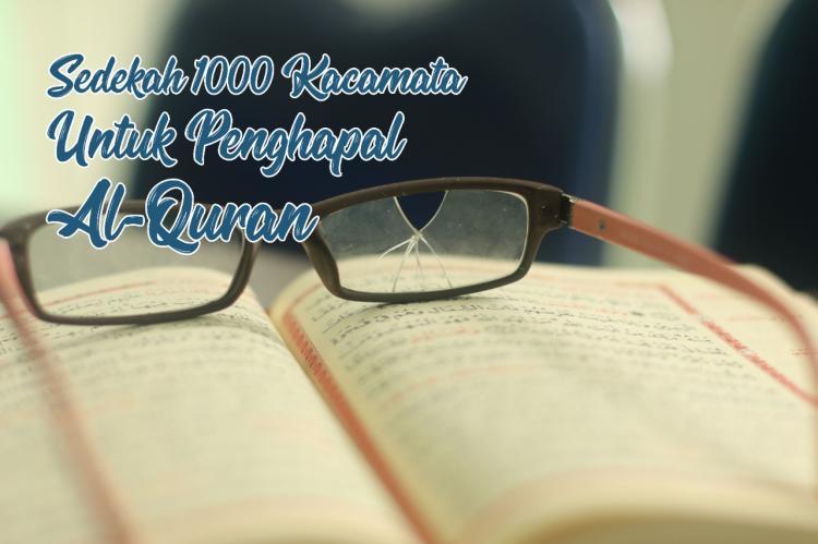 Banner program Sedekah Kacamata Untuk Penghapal Al-Quran