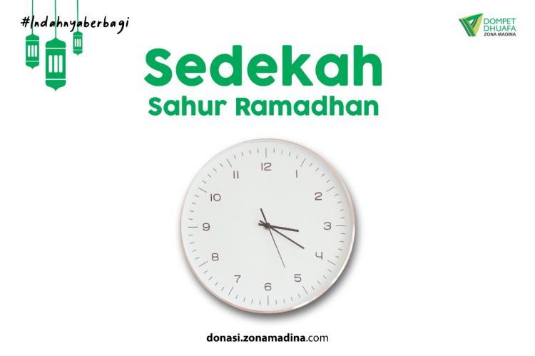 Banner program Sedekah Sahur Ramadhan
