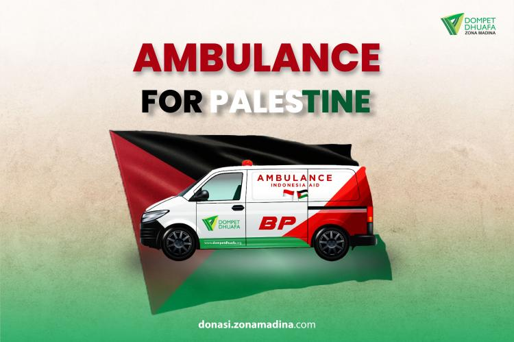 Banner program Ambulance for Palestine