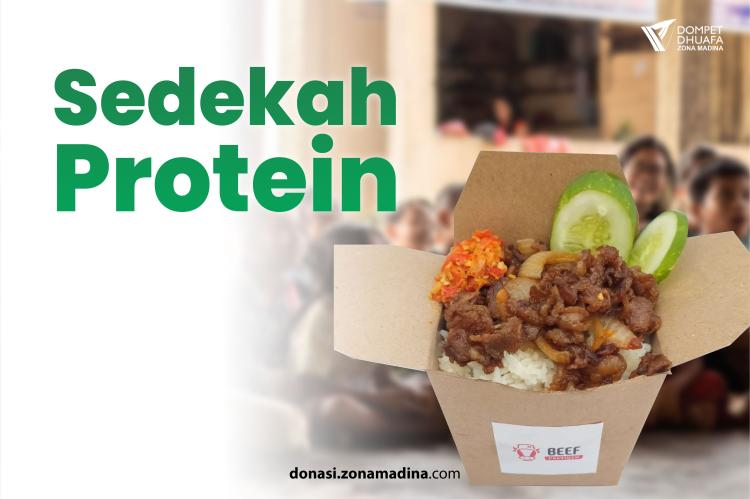 Banner program Sedekah Protein