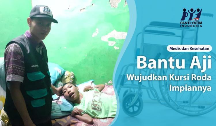 Banner program Bantu Aji Wujudkan Kursi Roda Impiannya