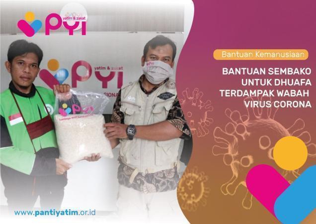 Banner Program Bantuan Sembako untuk Warga Dhuafa Terdampak Wabah Virus Corona                                      title=