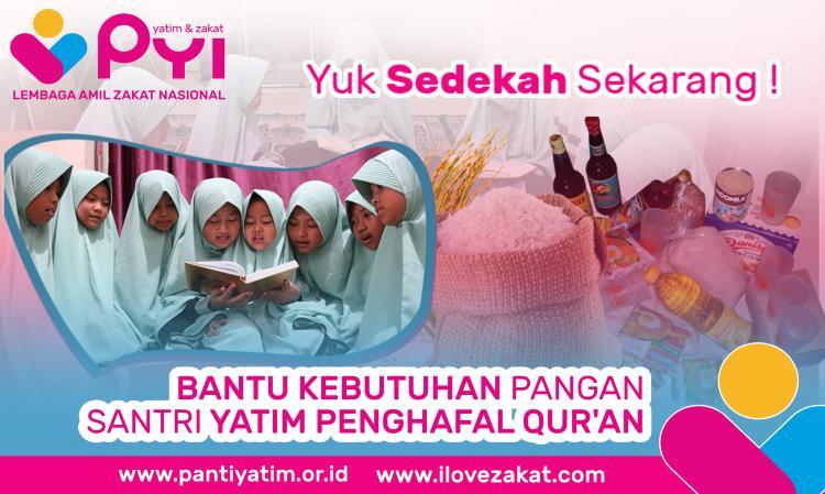 Banner program Berbagi Makan dengan Yatim Tahfiz Penghafal Al-Quran