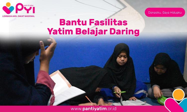 Banner program Bantu Fasilitasi Belajar Daring Yatim dan Dhuafa