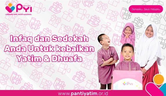 Banner program Infaq untuk Kebahagiaan Yatim dhuafa