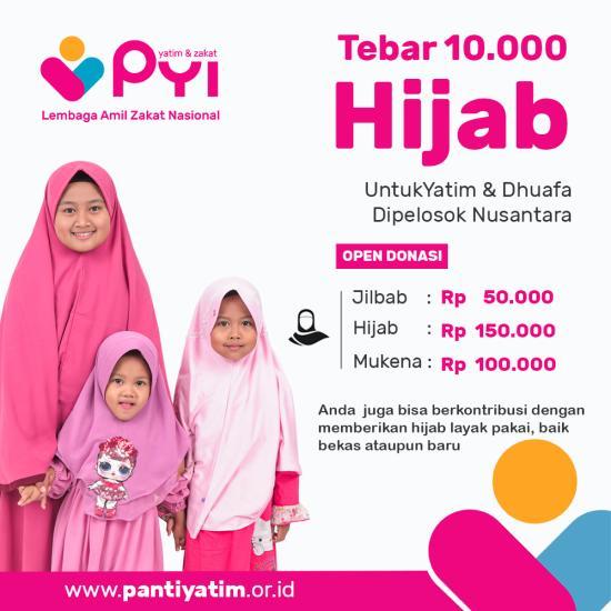 Banner program Hijab Untuk Yatim dan Dhuafa di Pelosok Nusantara