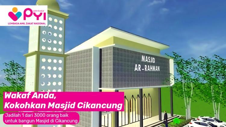 Banner program Wakaf Pembangunan Masjid Masyarakat Kp.Gorowek