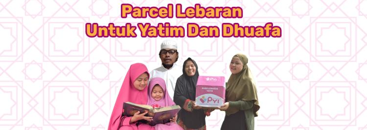 Banner program Parsel Lebaran untuk Yatim dan Dhuafa