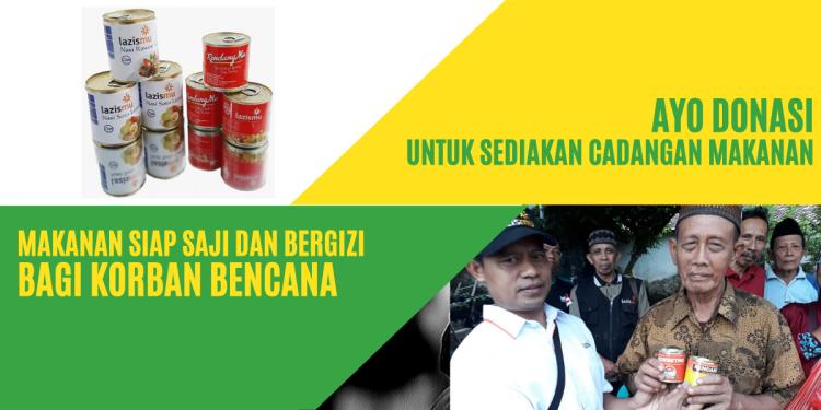 Banner program Cadangan Makanan Untuk Korban Bencana