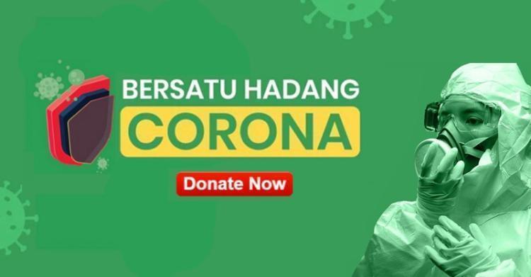 Banner program Bersatu Hadang Corona Bersama Lazismu