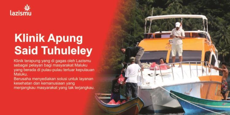 Banner program Donasi Klinik Apung untuk Saudara di Pelosok Maluku