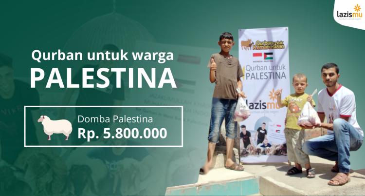 Banner program Qurban Domba Untuk Warga Palestina Harga Rp. 5.800.000,-