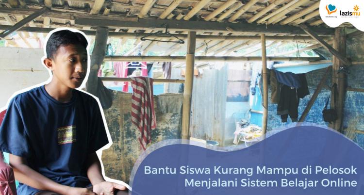Banner program Bantu Siswa Kurang Mampu di Pelosok Mengikuti Sistem Belajar Online di Tengah Pandemi