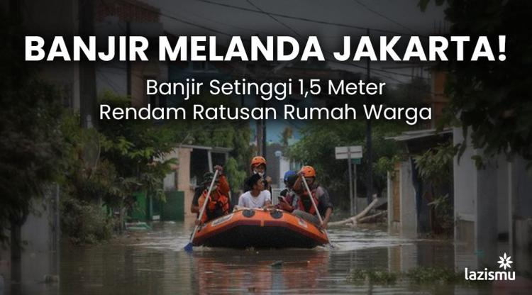 Banner program BANJIR MELANDA JAKARTA.. SAATNYA BERGERAK