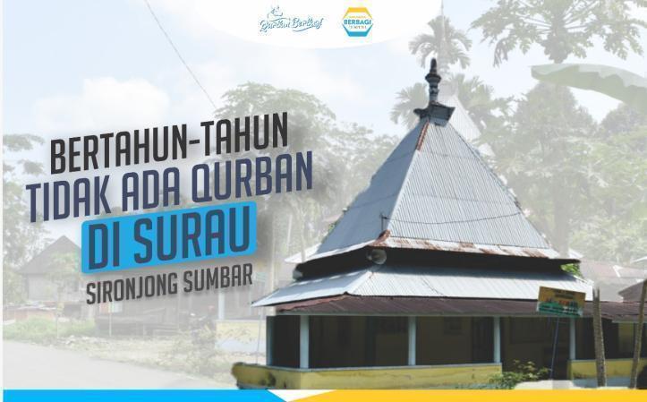 Banner program Bertahun-tahun Tidak Ada Qurban di Surau Sironjong Sumbar