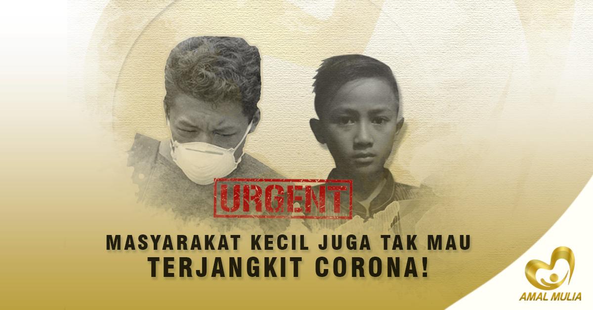Banner Program Urgent Masyarakat Kecil Butuh Bantuan Antisipasi Virus Corona                                      title=