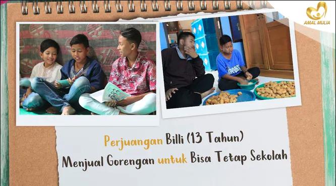 Banner program Selamatkan Anak Yatim Dhuafa dari Putus Sekolah
