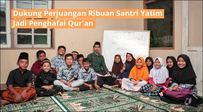 Banner program Ribuan Hafiz Yatim Dhuafa Ingin Hafal Al-Quran
