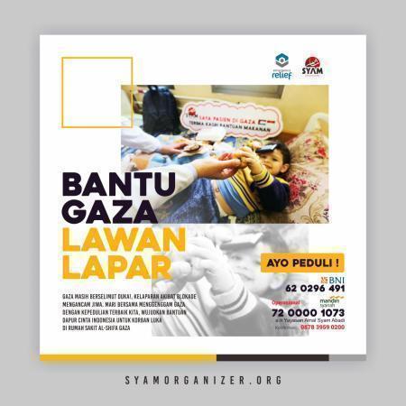 Banner program Bantu Gaza Lawan Lapar