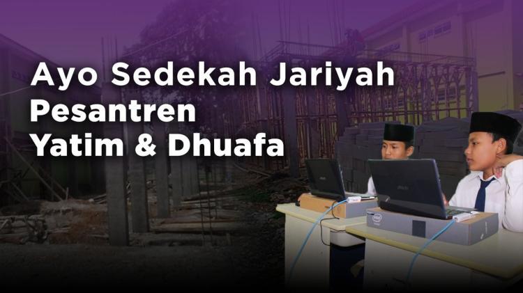 Banner program Wakaf Pondok Pesantren Yatim dan Dhuafa