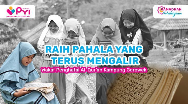 Banner program Wakaf Quran Untuk Yatim Penghafal Quran