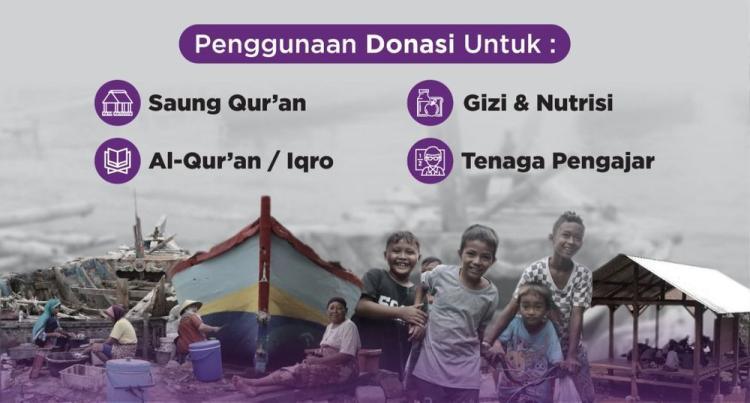 Gambar banner Bantu Anak-anak Yatim dan Dhuafa Pesisir Belajar Quran