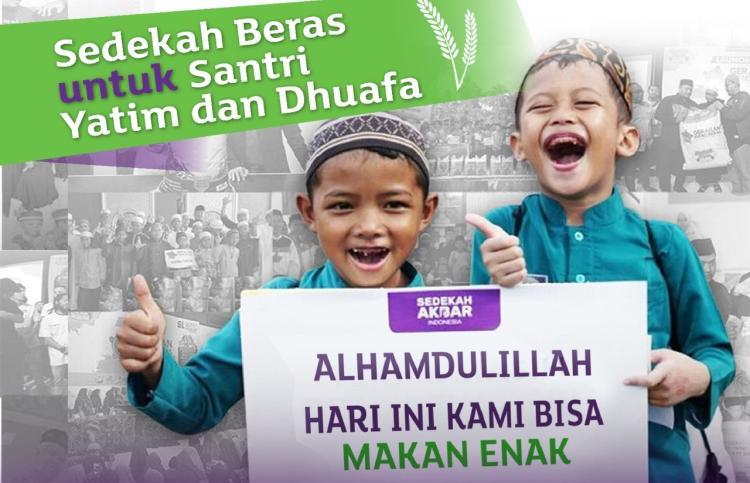 Gambar banner Salurkan Beras untuk Santri Yatim Dhuafa